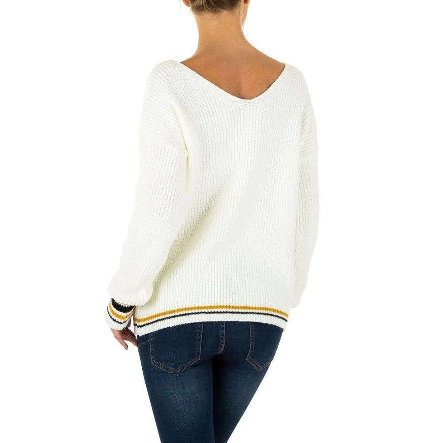 Damen Pullover Gr. eine Größe - weiß