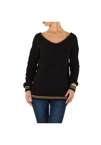 Milas Damen Pullover Gr. eine Größe - schwarz