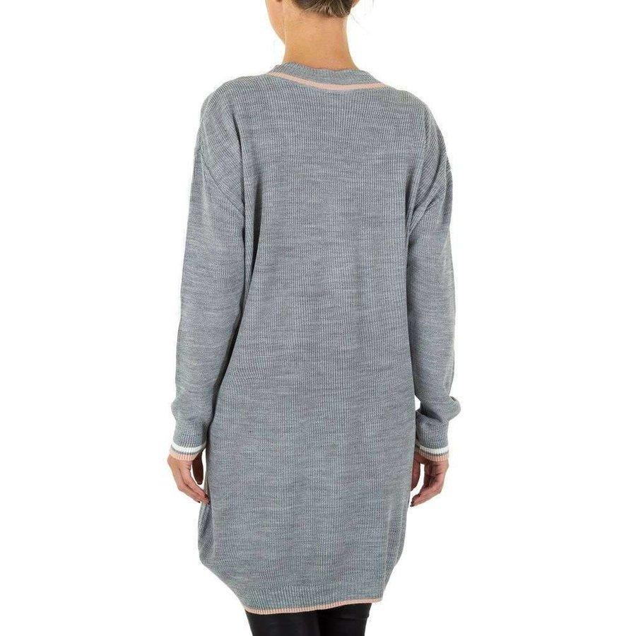 Großer Damenpullover Gr. eine Größe - grau