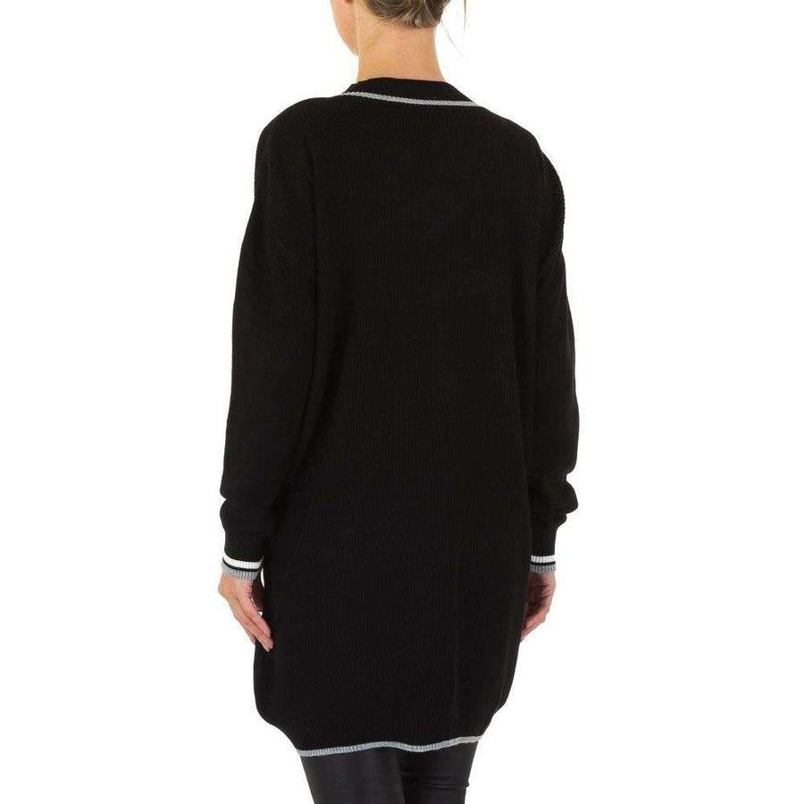 Großer Damenpullover Gr. eine Größe - schwarz