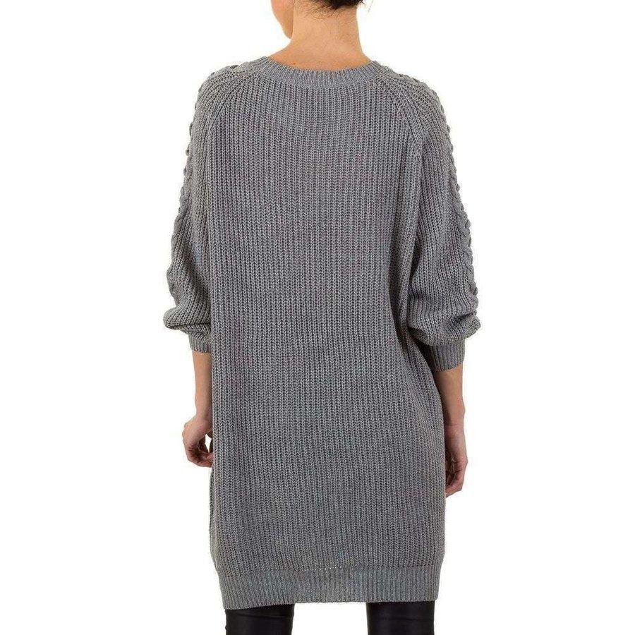 Geräumige Damen Sweater Gr. eine Größe - grau