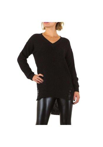 EMMA&ASHLEY Dames Sweater met lange achterkant Gr. één maat - zwart