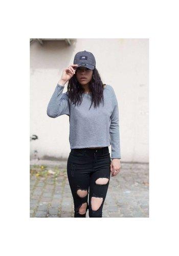 SIXTH JUNE PARISIENNES Sweat-shirt femme du 6 juin Parisiennes - Gris