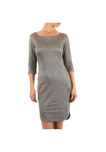 Neckermann Damen Kleid mit luxuriösem Look - grau
