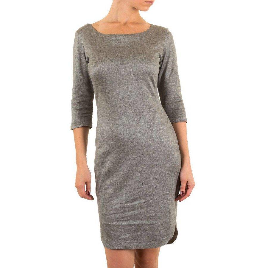 Damen Kleid mit luxuriösem Look - grau