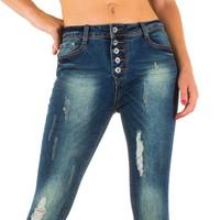Damen Slim Fit Jeans - blau