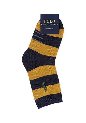 Ralph Lauren Kindersokken - rugby streep - maat 2-4 - 3 paar