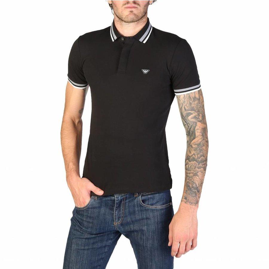 Herren Polo 3Z1F69 - schwarz
