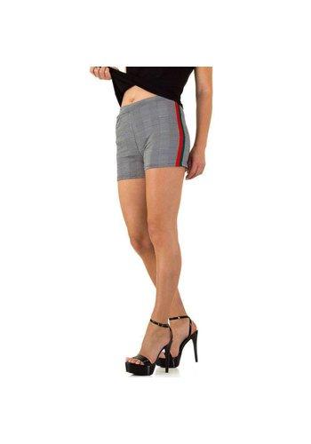 HOLALA Dames shorts van Holala - Grijs groen Rood