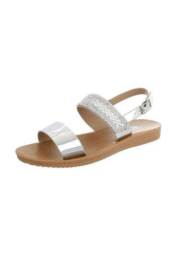 Neckermann Dames platte sandalen - zilver