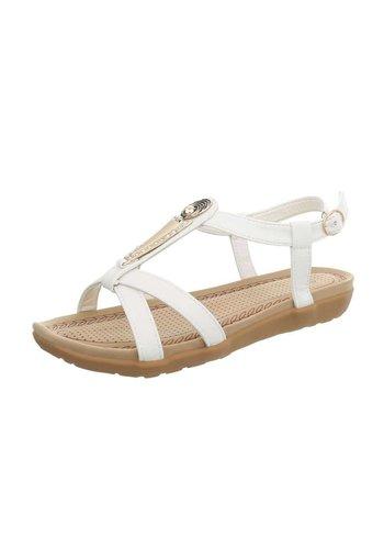 Neckermann Dames platte sandalen - wit