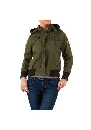 Daysie Jeans Dames jas van Daysie Jeans - armygreen