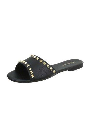 Neckermann Dames platte slippers  - zwart
