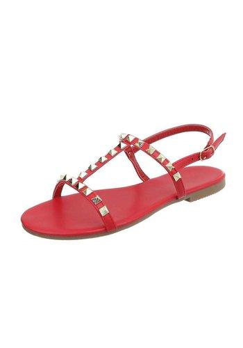 Neckermann Dames platte sandalen -Rood