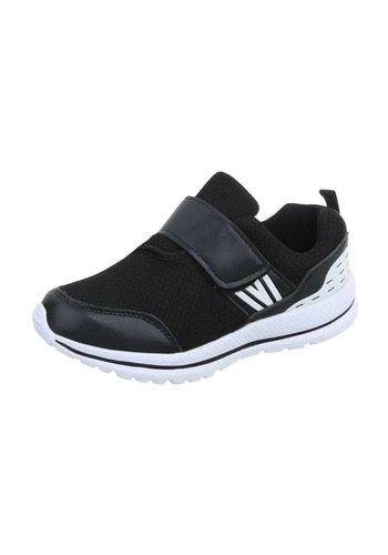 Neckermann Kinder Sneakers met klitteband - zwart/wit