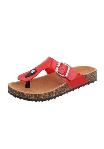 Neckermann Dames platte slippers - rood