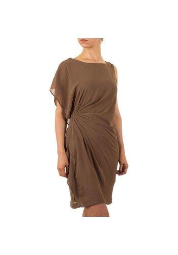 9c96c70171c8c1 Dames jurk van Jumpo - zandkleurig