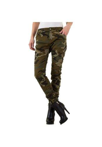 Neckermann Dames jeans van Place Du Jour - leger groen