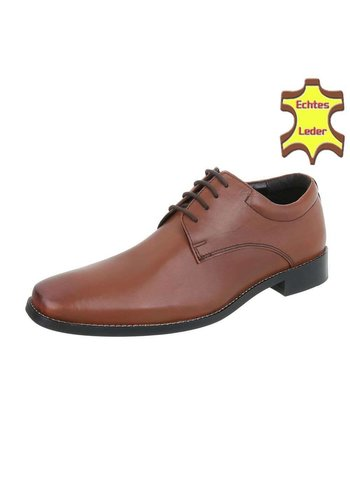 Neckermann Chaussures en cuir d'affaires pour hommes - marron