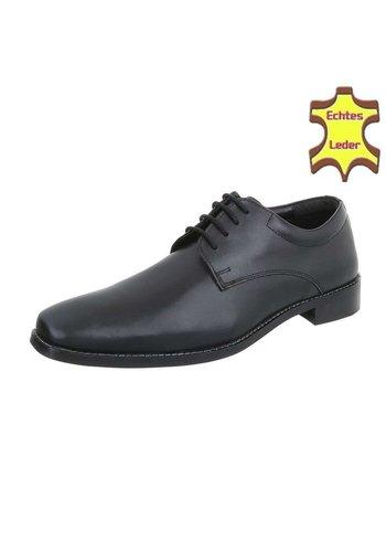 Neckermann Leren heren schoenen voor heren - zwart