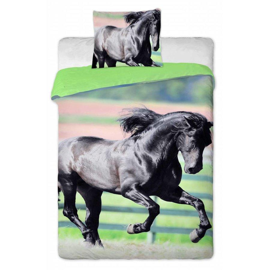 Dekbedovertrek Animal Pictures Black Horse 140 x 200