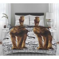 Dekbedovertrek Leeuw Maat: Lits-jumeaux (240 x 220 cm + 2 kussenslopen)