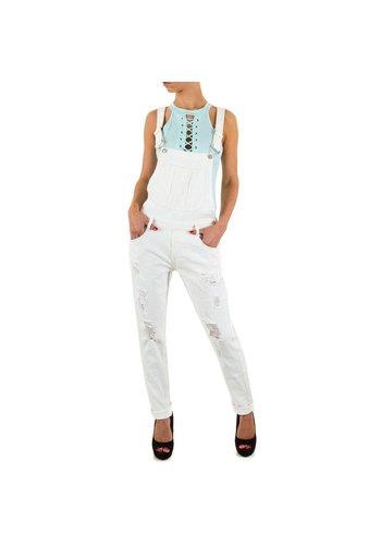 Neckermann Dames jeans Overal van Semaforo Denim - wit