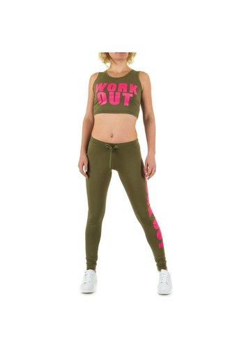 EMMA&ASHLEY DESIGN Dames Jogging Pak van Emma & Ashley Design - army green