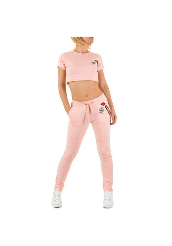 EMMA&ASHLEY DESIGN Dames Jogging pak van Emma & Ashley Design - roze