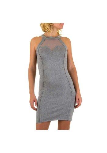 MOEWY Damen Kleid Gr. eine Größe - grau