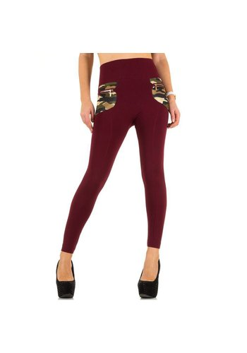 Best Fashion Damen Leggings von Best Fashion Gr. one size - red