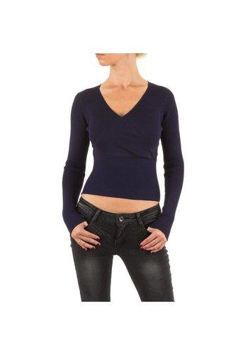 Neckermann Dames Shirt Gr. één maat - DK.blauw