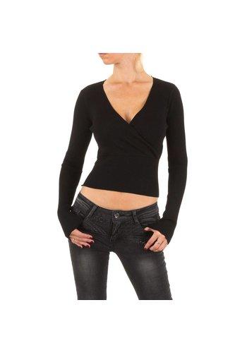Neckermann Dames Shirt Gr. één maat - zwart