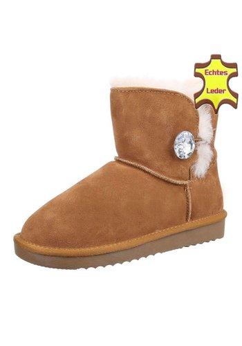 Neckermann Leren dames Boots - camel