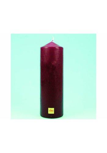 Eika EIKA Stump oder Stumpenkerze 21.5cm (H) x6cm (DM), Bordeauxrot