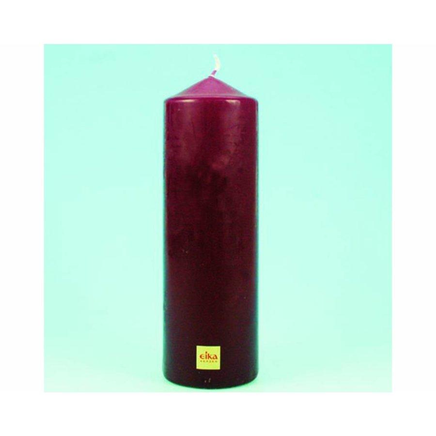 EIKA Stump oder Stumpenkerze 21.5cm (H) x6cm (DM), Bordeauxrot