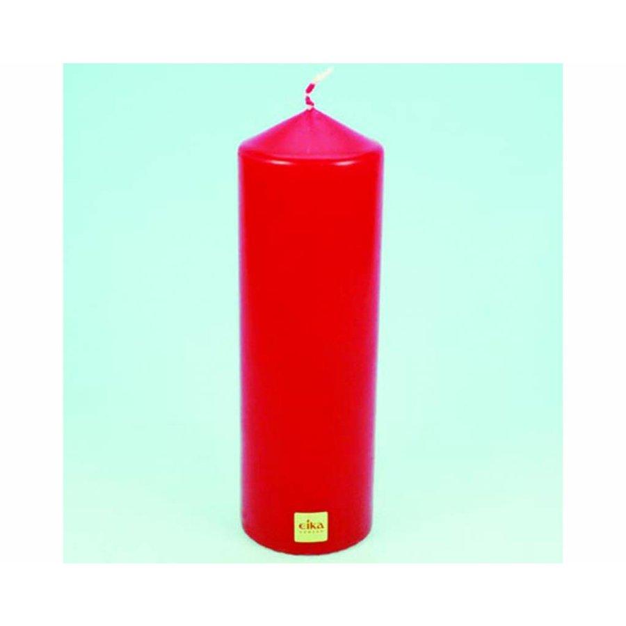 EIKA Stumpenkerze 21,5cm(H)x6cm (DM), rot