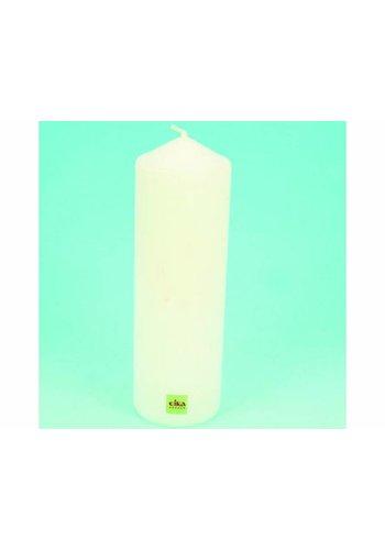 Eika EIKA Bougie de souche ou de pilier 21,5 cm (H) x 6 cm (DM), blanche