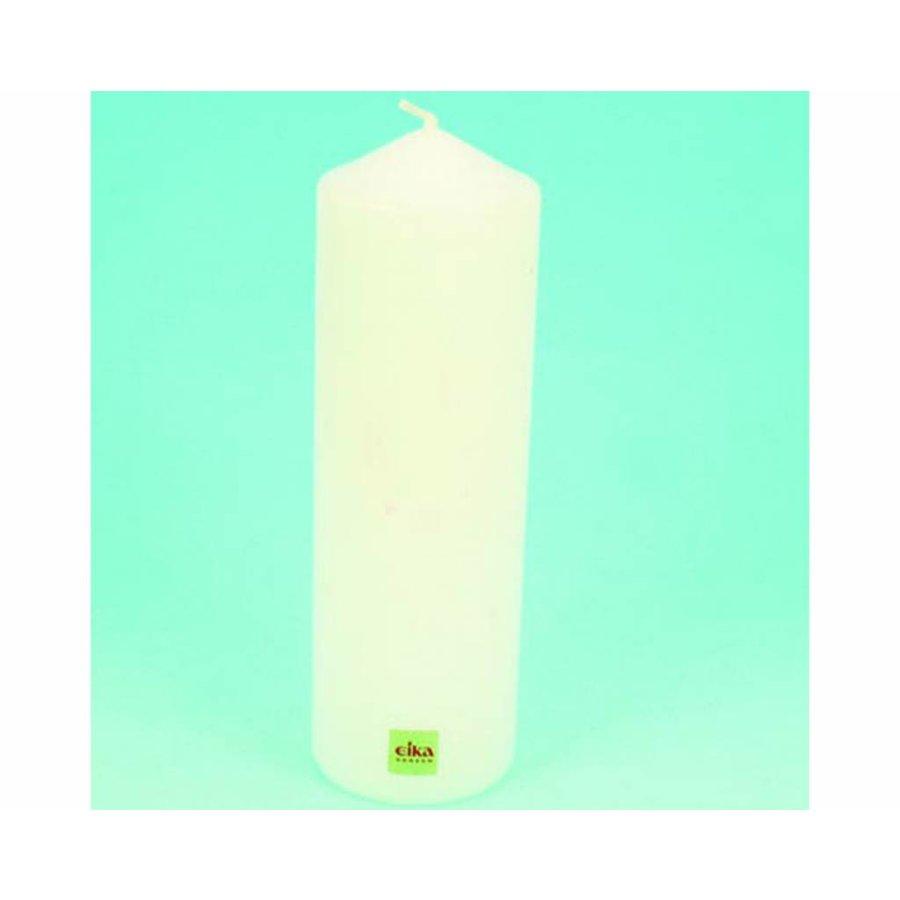 EIKA Stump oder Stumpenkerze 21,5cm (H) x6cm (DM), weiß