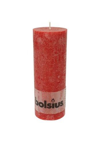 Bolsius RUSTIK Stomp of pijlerkaars 190x68 rood