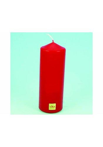 Eika EIKA Stump oder Stumpenkerze 16,5cm (H) x6cm (DM), rot