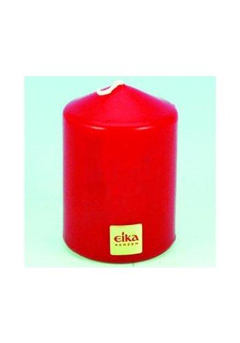 Eika Bougie de pilier EIKA 8,5cm (H) x6cm (DM), rouge