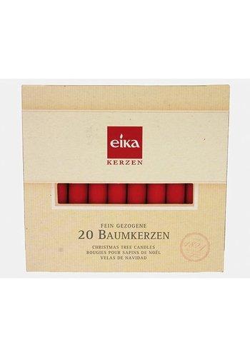 Eika Kerstboom kaarsen rood 20 stuks 100mm EIKA topkwaliteit!