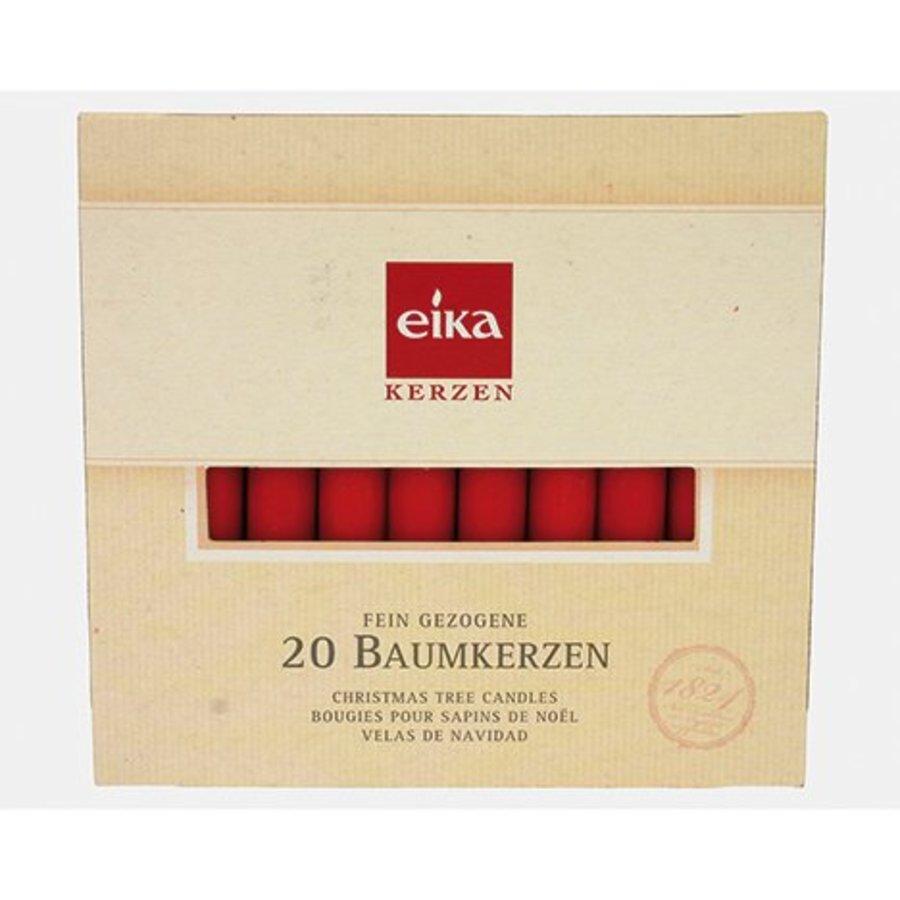Christbaumkerzen rot 20 Stück 100mm EIKA Top Qualität!