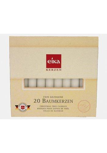 Eika Christbaumkerzen weiß 20 Stück 100mm, EIKA Top Qualität!