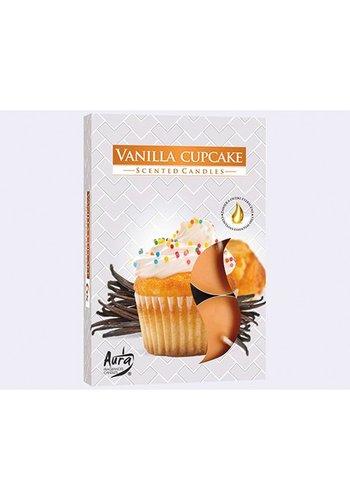 Aura Theelicht geurende 6er vanille koekjes,fragrance