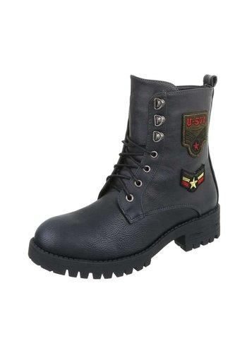 Neckermann Neckermann Damen Stiefel im US Navy Style - schwarz