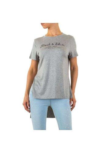 EMMA&ASHLEY Dames T-shirt -grijs