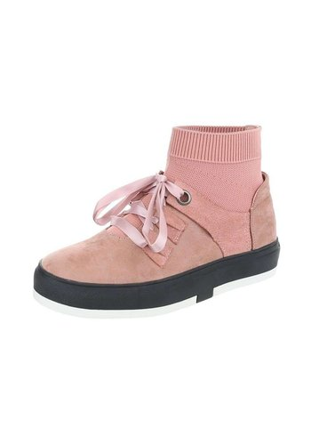 Neckermann Dames Sneakers Hoog Roze