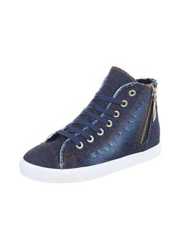 Neckermann Damen Jeans Turnschuhe hoch - blau